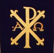 Chi Rho Alpha and Omega Panel